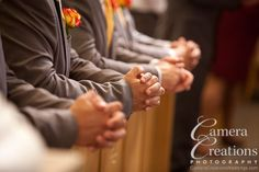 Grooms at the Church of the Good Shepherd. Photographed by Camera Creations LLC/Julie Hopkins #wedding #photography
