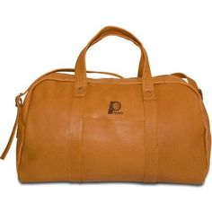 "Pangea Brands NBA 18"" Leather Corey Travel Duffel Color: Tan, NBA Team: Indiana Pacers"