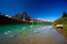 Waterfowl Lake in the Rocky Mountains by CanvasingtheOutdoors