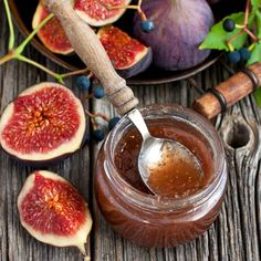 How to make fig jam,, Fig Recipes, Sweet Recipes, Real Food Recipes, Cooking Recipes, Healthy Recipes, Delicious Desserts, Yummy Food, Good Food, Homemade Fig Jam