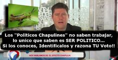"""Opinión Inercial: """"Políticos Chapulines"""" traidores de México. En cada Distrito Electoral, en cada Municipio podría existir una de estas """"criaturas"""". Identificalos y razona TU Voto!!... #Comparte!!..."""