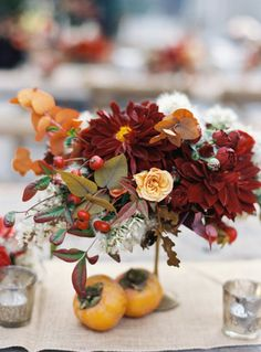 fall florals & centerpiece