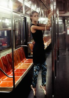 Amanda Norgaard is a Subway Ballerina for KURV Magazine by Marco Trunz | Fashion Gone Rogue: The Latest in Editorials and Campaigns