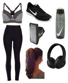 A fashion look from January 2016 featuring legging pants, grey sports bra and Beats by Dr. Browse and shop related looks. Casual Sporty Outfits, Gym Outfits, Teenage Girl Outfits, Cute Swag Outfits, Sporty Girls, Womens Workout Outfits, Summer Fashion Outfits, Athletic Outfits, Mode Outfits