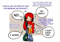 Funny Clary and Mom Comic
