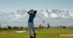 Golf with a stunning view
