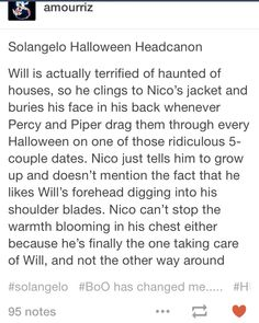 Am I the only one who loves a Percy/Piper duo? Also Will afraid of haunted houses omfg