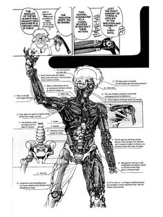 demonsee: Android schematic by Masamune Shirow