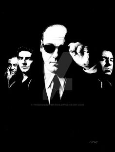 show. had to take a photo cos it's too big for my scanner, so the quality's a bi. THE SOPRANOS Mafia, Series Movies, Tv Series, Art Movies, Movies Showing, Movies And Tv Shows, Les Sopranos, Don Corleone, Real Gangster