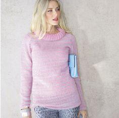 Описание вязания на спицах свитера в серебристую полоску из журнала «Verena. Спецвыпуск» №4/2015