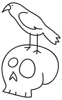 Crow & Skull Stitchery