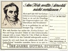 Original-Werbung/ Anzeige 1951 - GOTHA LEBENSVERSICHERUNG / Ernst-Wilhelm ARNOLDI - ca. 135 x 100 mm