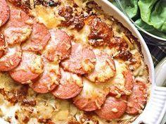 Potatiskaka med falukorv