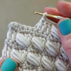 Crochet Crafts, Crochet Yarn, Crochet Projects, Free Crochet, Puff Stitch Crochet, Crochet 101, Diy Crafts, Crochet Stitches Patterns, Crochet Designs