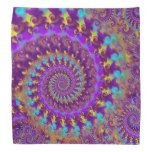 NEW Hippy Fractal Pattern Purple Turquoise & Yellow Bandannas - http://www.photographybypixie.com/2014/10/01/new-hippy-fractal-pattern-purple-turquoise-yellow-bandannas/ #hippie #photo #gifts #shopping