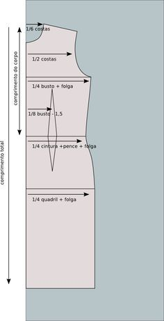 Modelagem plana: Como alterar um molde para suas medidas: Passo a passo