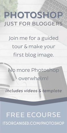 Would you love to play with Photoshop, but don't know where to start? Join me for a guided tour and make your first blog image (free template and videos included). If you've always wanted to learn Photoshop, this course is a perfect, gentle introduction. Go on, have a go!