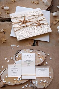 Luxury Beach Wedding Invitations inspired by the sea and Destination Wedding. The addition of the laser cut starfish design created by us and floral emboss on the front turns this invitation merely stunning. #beachinvitationswedding #weddinginvitationsbeach #weddingbeachinvitations #invitationsweddingbeach #weddinginvitationsrusticbeach #beachinvitations #summerweddinginvitations Beach Invitations, Handmade Wedding Invitations, Laser Cut Wedding Invitations, Destination Wedding Invitations, Invites, Rustic Wedding Stationery, Beach Wedding Inspiration, Cream Wedding, Emboss