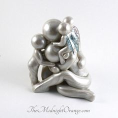 Custom Family of 5 with TWIN babies memorial sculpture