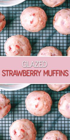 If a muffin and a Munchkin® had a baby, we're pretty sure this Glazed Strawberry Muffin would be their offspring.