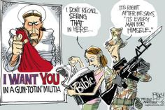 Sadly, these guys truly believe Jesus wants them to tote guns everywhere they go.