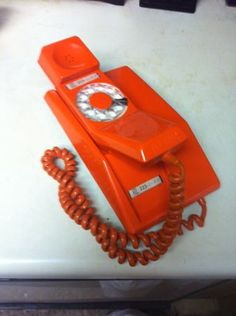 Retro 1960s Orange Telephone $60