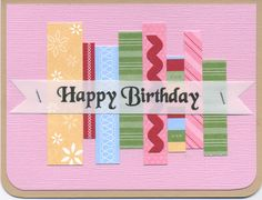 Lift Bridge Cards and Crafts: Quick Card: Inspired by washi tape