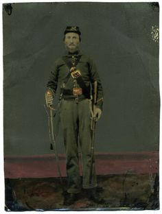 Full Plate Armed Civil War Soldier Tintype Maine