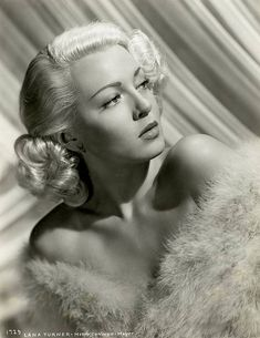 "Lana Turner..My favorite blond bombshell from ""Old Hollywood"". Everyone else is partial to Marilyn, but I llove Lana."