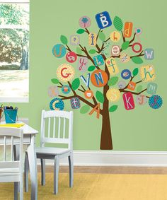 Multicoloured ABC Tree Giant Wall Sticker by Jomoval #zulily #zulilyfinds