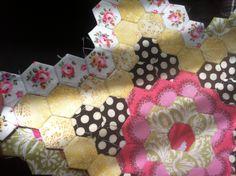 mini hexagon quilt