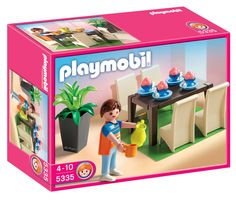 Playmobil and bricolage on pinterest for Salle manger playmobil