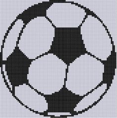 Soccer Ball Cross Stitch Pattern by MotherBeeDesigns on Etsy