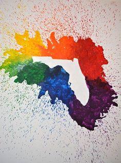Crayon melting, crayon art, fun diy decorating project, crafts for kids