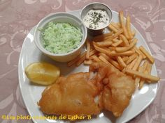 Les plats cuisinés de Esther B: Pâte à frire pour fish and chips maison Fish And Chips, Sauce Tartare, Beer Battered Fish, Guacamole, Esther, Meat, Chicken, Ethnic Recipes, Recherche Google