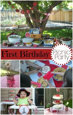 A Picnic Themed Birthday Party -- love this idea for W for next year!