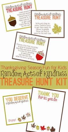 Random Acts of Kindness Treasure Hunt from Capital B {contributor} - Thanksgiving - Thanksgiving Activities For Kids, Thanksgiving Traditions, Holiday Activities, Thanksgiving Crafts, Family Traditions, Christmas Crafts, Brother And Sis, Capital B, Simple Blog