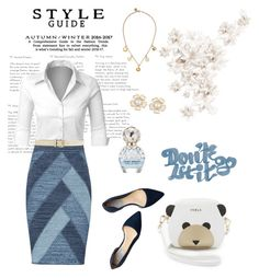 Cute Work Outfit by lysianna on Polyvore featuring polyvore, fashion, style, LE3NO, BCBGMAXAZRIA, Cole Haan, Furla, Marc by Marc Jacobs, Valentino, Marc Jacobs and clothing