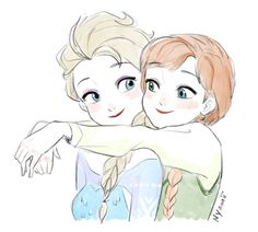 "elsa anna-art-archive: ""Art by Nyamo "" Frozen Disney, Anna Disney, Frozen Art, Disney Fan Art, Disney Princess Facts, Disney Princess Drawings, Disney Princess Pictures, Disney Drawings, Drawing Cartoon Characters"