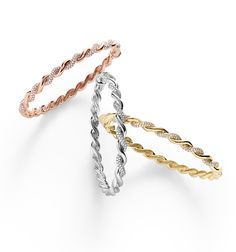 Wisteria bracelets in 18k rose, white, or yellow gold with diamonds.
