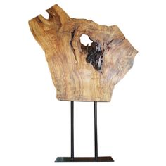 raw wood sculpture