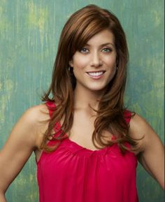 Kate Walsh's color. This is so rich and the caramel highlights with an overall reddish brown base is so pretty!