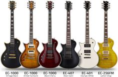 Left Handed ESP Ltd EC Series Guitars