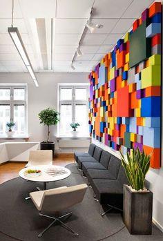 #Inspiration   Office design in Sweden >> on Google+   #color #architecture