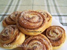 Skořicové šneky Ciabatta, Cake Cookies, Doughnut, Ham, Pancakes, Nova, Muffin, Easy Meals, Food And Drink