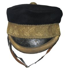 Light Dragoons forage cap which is described in the Dress Regulations for 1834 and 1846. The DRs of 1857 describe some differences to the cap. There are many Crimean War photographs showing the style of forage cap which had stiffened sides. This one is to a Light Dragoon regiment and was the type used in the Crimean War