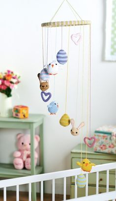 Cute chicks, adorable bunnies, colourful eggs - we've certainly got spring fever here at Let's Knit! These amigurumi figures are used to make a baby mobile, but you could craft individual ones to give away as sweet Easter gifts. They're…