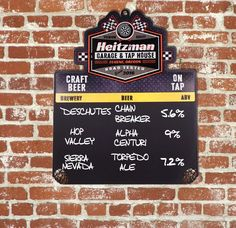Beer Menu Board ChalkboardMotorcycle Edition Mb Custom