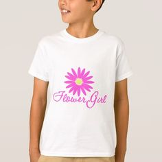 Flower Girl Daisy/ Pink T-Shirt