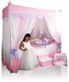She is going to love her new Princess Canopy Bed WITH Glitz and Glam bedding !  sc 1 st  Pinterest & 17 Best Cute Canopy Tops For Your Canopy Bed images | Princess ...